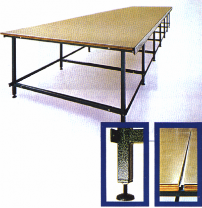 fox table de coupe pour chariot table de coupe s rie lourde 267 glasman machines coudre. Black Bedroom Furniture Sets. Home Design Ideas