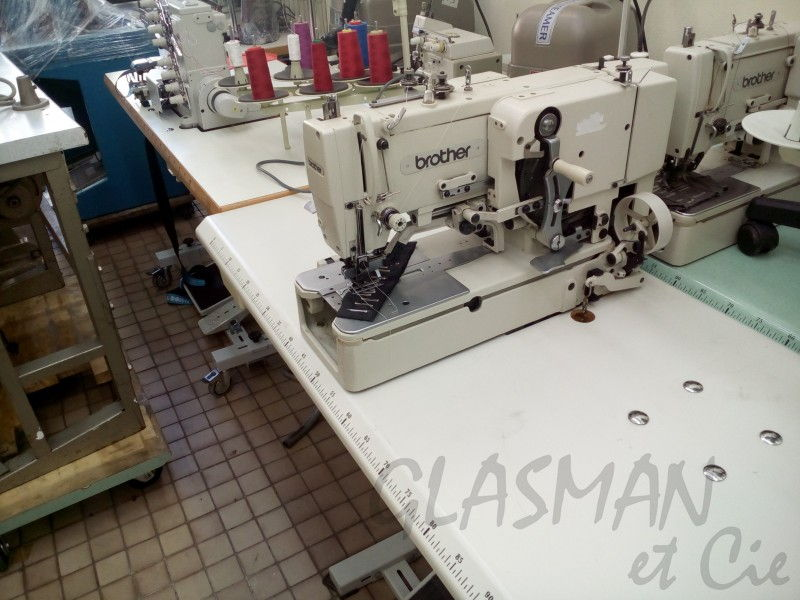 Machine boutonni re ling re brother glasman machines for Machine a coudre yamata