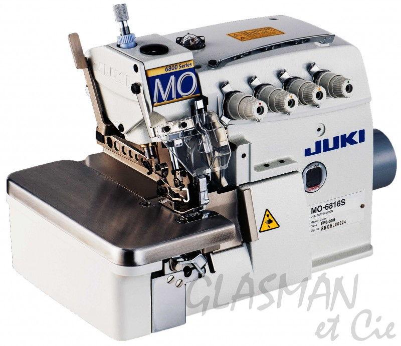 Surjeteuse 4 fils 2 aiguille juki mo 6814s glasman for Machine a coudre 4 fils