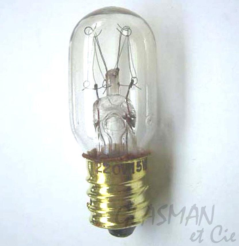 ampoule e12 petite 220 v lisa ampoules 8656 glasman machines coudre. Black Bedroom Furniture Sets. Home Design Ideas