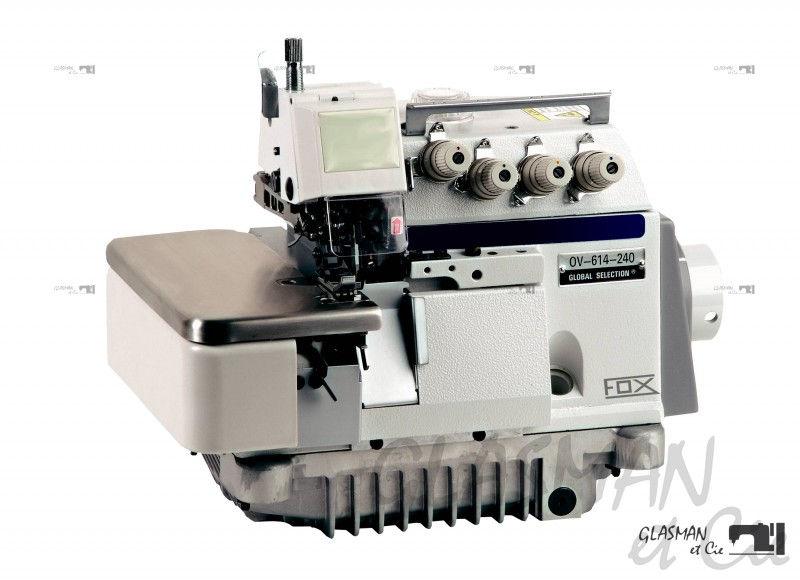 Fox ov 614 240 pd 04 surjeteuse industrielle 4 fils for Machine a coudre 4 fils
