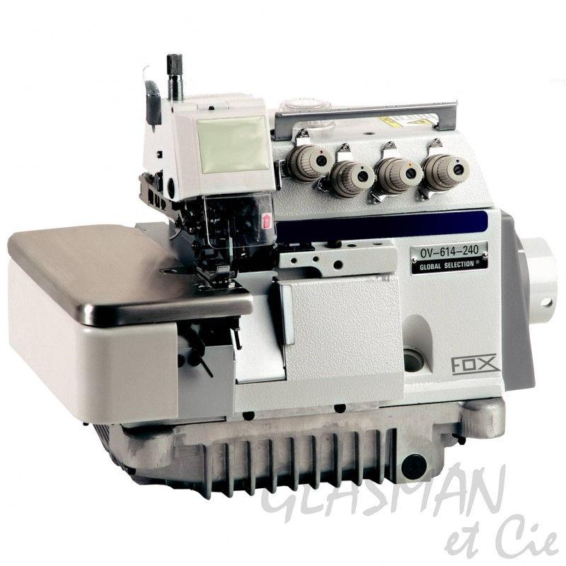 Surjeteuse industrielle 4 fils fox ov 614 240 bl glasman for Machine a coudre 4 fils