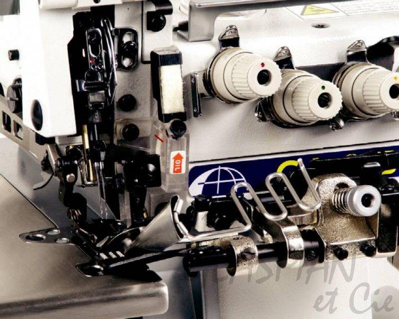 Surjeteuse industrielle 4 fils fox ov 614 408 tc glasman for Machine a coudre 4 fils