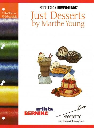 BROTHER JUST DESSERTS BY M. YOUNG 146 Cartes / cd de broderies 2393