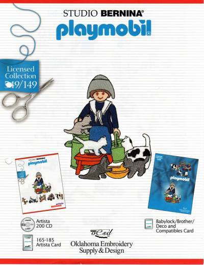 BROTHER PLAYMOBIL 149 Cartes / cd de broderies 2395