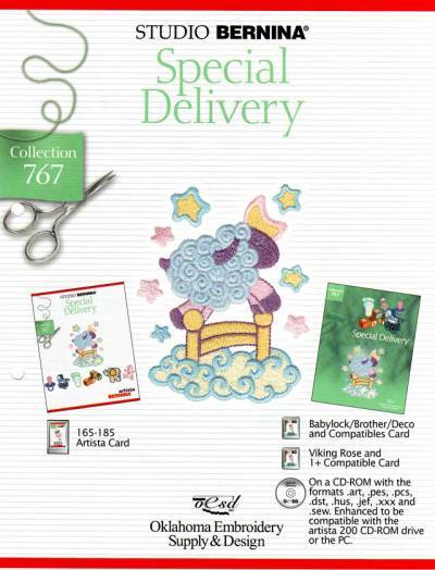 BROTHER SPECIAL DELIVERY 767 Cartes / cd de broderies 2409