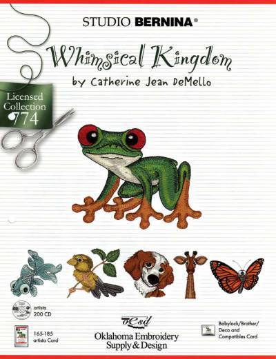 BROTHER WHIMSICAL KINGDOM 774 Cartes / cd de broderies 2415