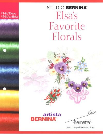 BERNINA ELSA FAVORITE'S FLORAL 544 Cartes / cd de broderies 5384