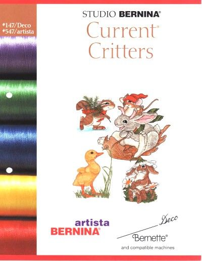 BERNINA CURRENT CRITTERS 547 Cartes / cd de broderies 5385