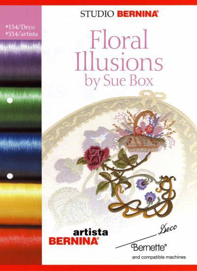 BROTHER FLORAL ILLUSIONS 'SUE BOX' Cartes / cd de broderies 2386