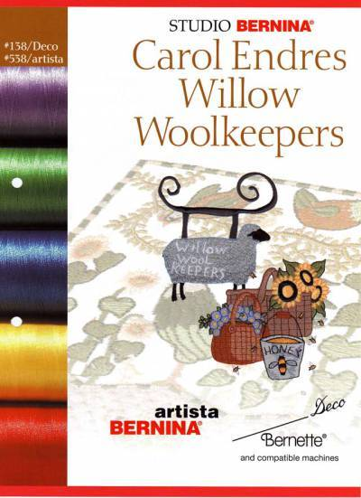 BROTHER WILLOW WOOLKEEPERS C.E. 138 Cartes / cd de broderies 2388