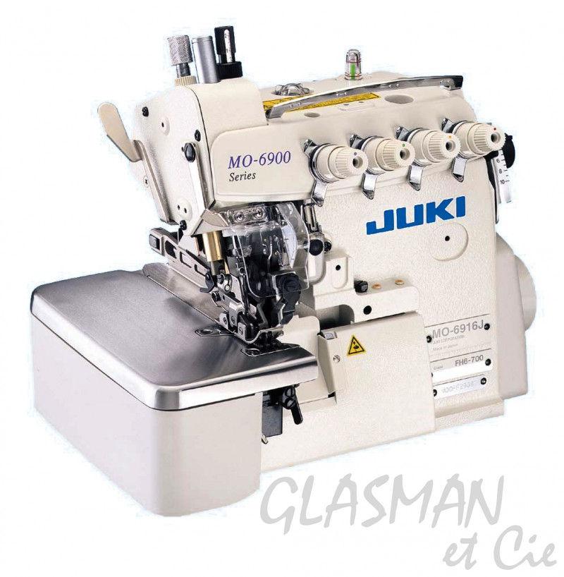 Sujeteuse industrielle 4 fils juki mo 6914 j g glasman for Machine a coudre 4 fils