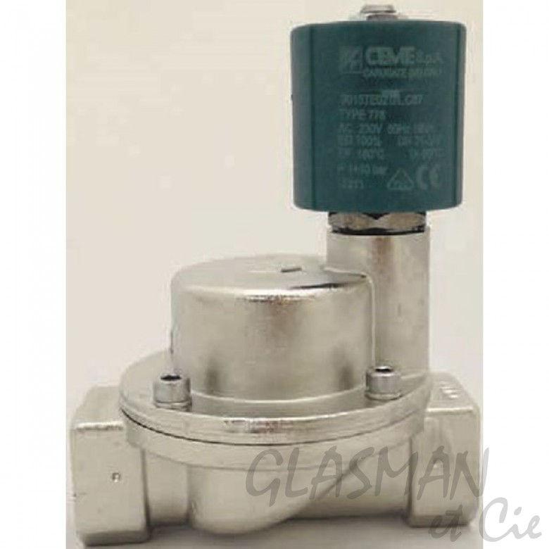 """Electrovanne CEME 9004 Water Air VAPEUR HUILES légères PTFE 1//2/"""" normalement fermé"""